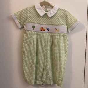 Smocked Boy Romper